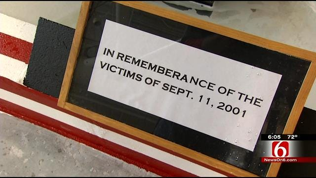 Tulsa Tech Students Build Tribute Wall For 9/11 Victims