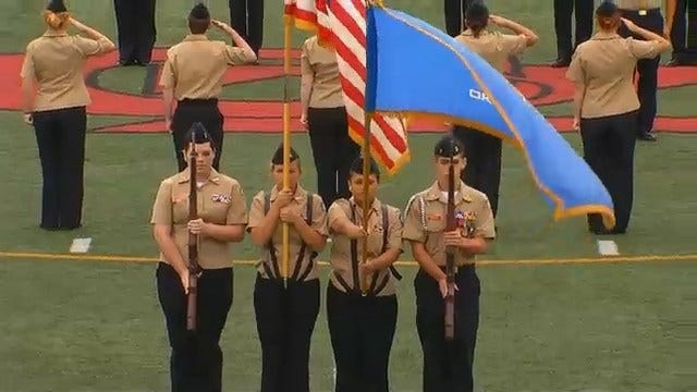 WEB EXTRA: Claremore High School's 9-11 Ceremony