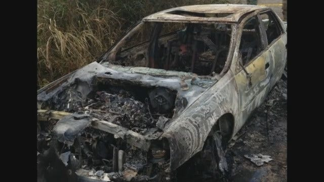 Muskogee Officials Say Human Remains Found In Burned Out Car