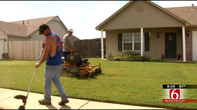 Owasso Man Back At Work After Locating Stolen Mowing Equipment