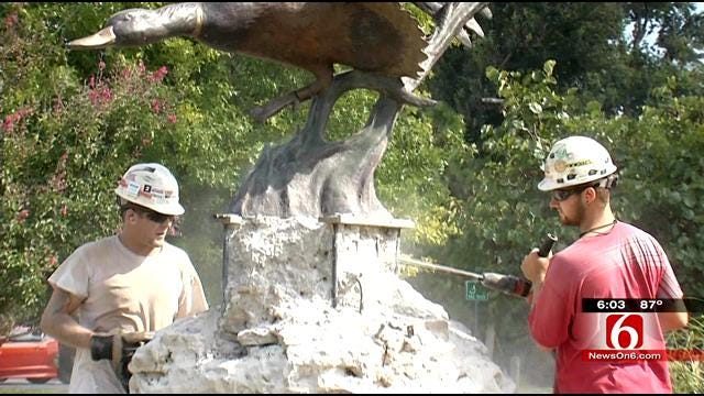 Crews Work To Move, Preserve Statues Before Gathering Place Groundbreaking