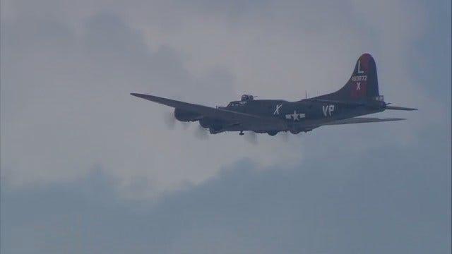 WEB EXTRA: B-17 Bomber Flies Over Tulsa