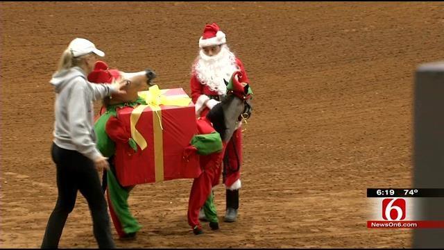 Miniature Horses, Costumes Turn Heads At Tulsa Fairgrounds