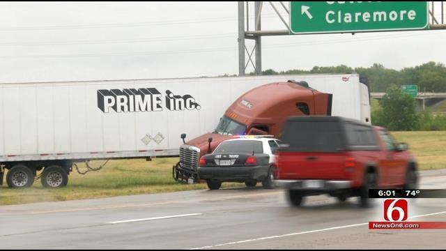 Semi Crash Slows Traffic On I-44 In Catoosa