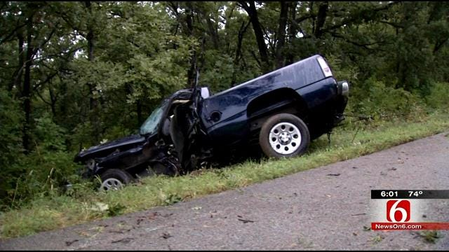 OHP: Driver Killed In Pickup Crash West Of Turley