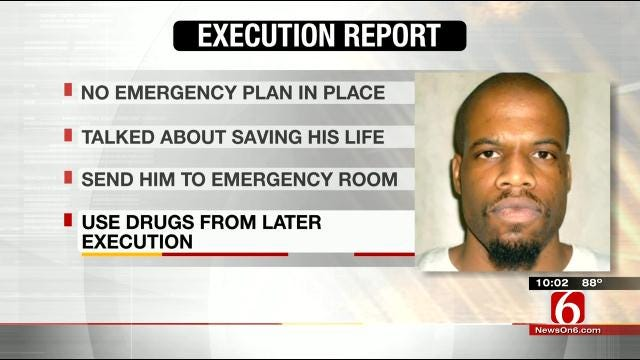 Report Answers Questions Regarding Oklahoma Inmate's Execution