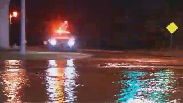 WEB EXTRA: Video From Scene Of Water Main Break On Pine Just West Of Utica