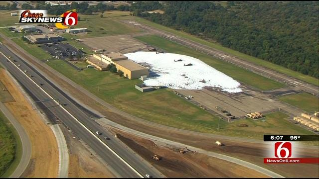 No Harm Done To Black Hawks Covered In Foam At Oklahoma Army National Guard