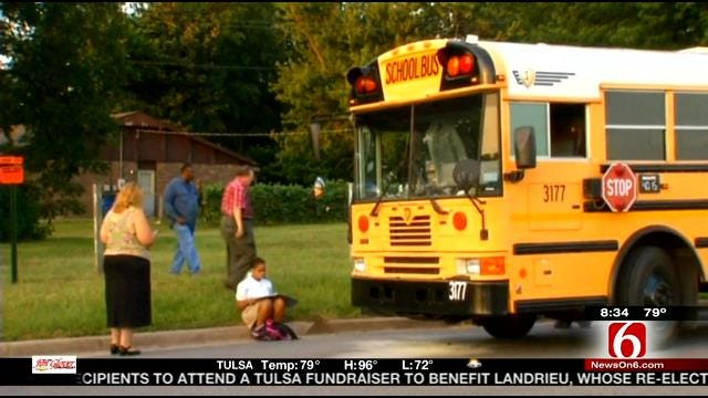 Tulsa School Bus Engine Catches Fire, No Injuries Reported