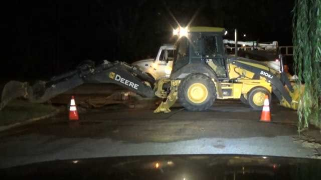 WEB EXTRA: Video From Scene Of Water Main Break On Olympia