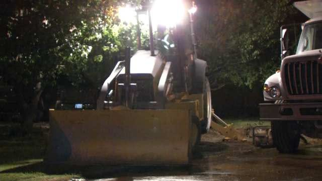 WEB EXTRA: Video From Scene Of Water Main Break On Tecumseh