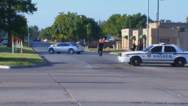 WEB EXTRA: Video From Scene Of Barricaded Man In East Tulsa