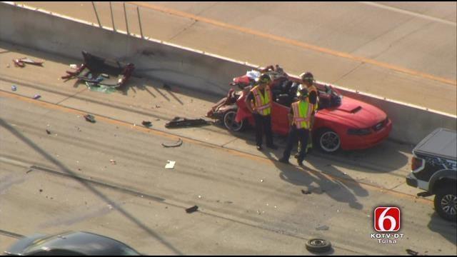 Osage SkyNews 6 HD Flies Over East Tulsa Wreck