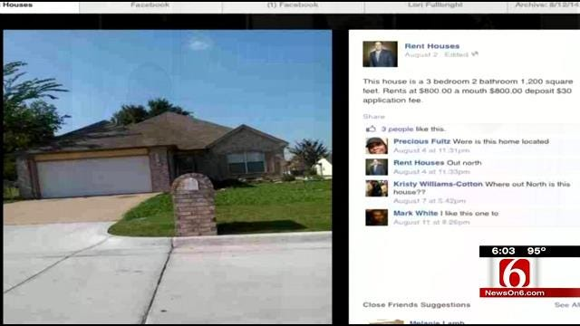 Tulsa Homeowners 'Shocked' To Find Home For Rent On Facebook Page