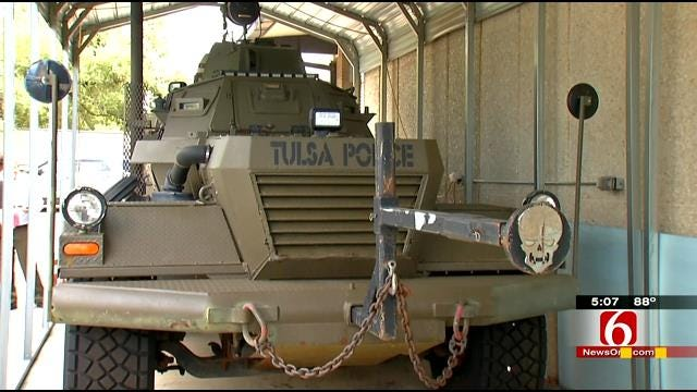 Military Vehicles Used By Police At Center Of Ferguson Debate
