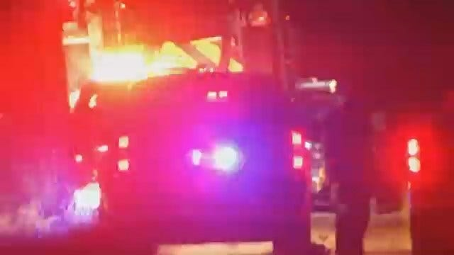 WEB EXTRA: Video From Scene Of Grass Fire East of Kiefer