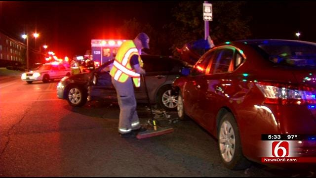 Four Injured In Midtown Tulsa Collision