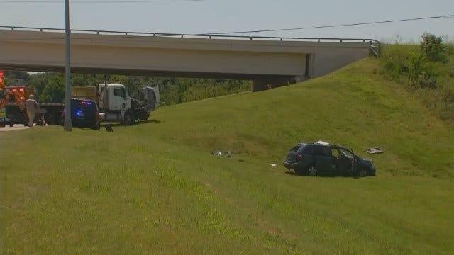 WEB EXTRA: Elderly Driver Critical After Creek Turnpike Wreck