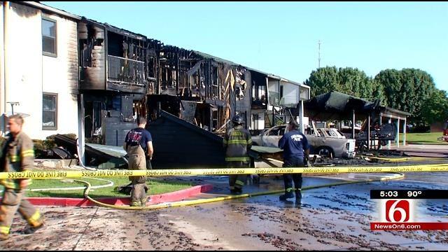 Tahlequah Fire Destroys Apartment Building