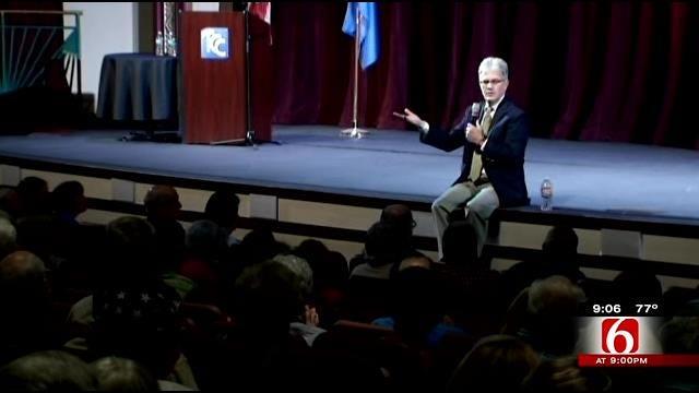 Oklahomans Say Farewell To Senator Coburn At Town Hall Meeting