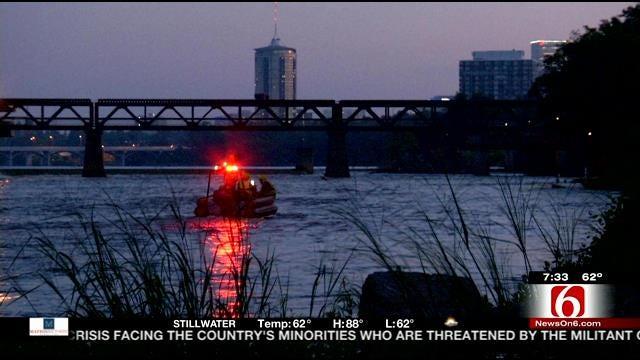 Rescue Team Pulls Stranded Swimmer From Arkansas River