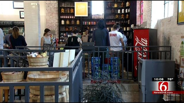 Folks Flock Downtown Grocery Store Before Doors Close For Good