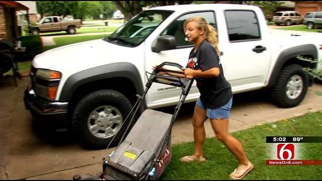 Thieves Drive Away With Coweta Girl's Mowing Business