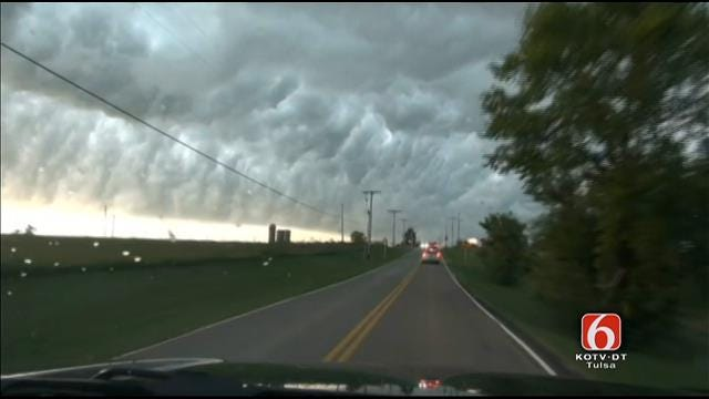 WEB EXTRA: Video From Storm Chaser Mark Folta As Thunderstorm Approached Tulsa County