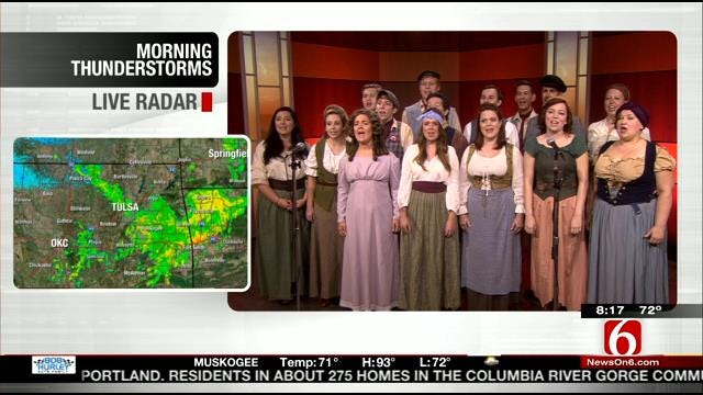 Theatre Tulsa Performs Selection From Les Miserable On 6 In The Morning