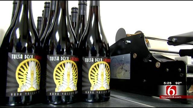Long Forgotten 'Goddess Of Oil' Returns To Tulsa On Wine Bottle