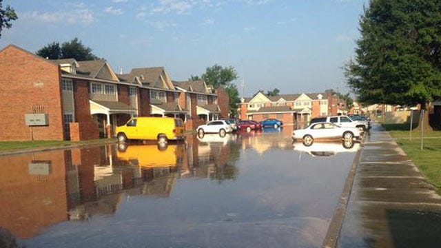 WEB EXTRA; Video From Water Line Break At 22nd And Jackson