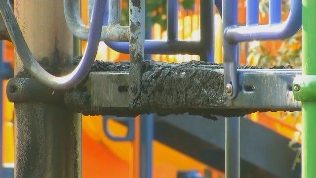 WEB EXTRA: Video Of Damage At Eliot Elementary School Playground