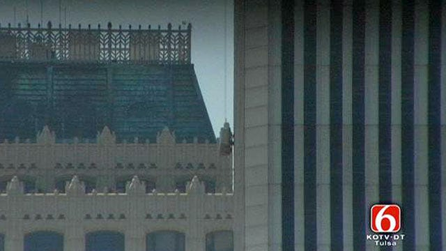 WEB EXTRA: Tulsa Window Washer Talks About Being Stuck On Side Of Williams Tower