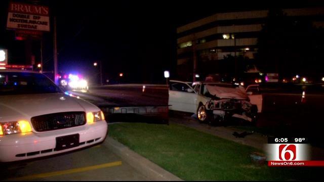 Driver, Passengers Run After Multi-Vehicle Wreck Involving Tulsa Fire Truck