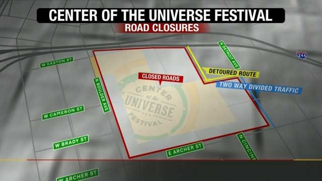 WEB EXTRA: Traffic And Parking At Tulsa's Center Of The Universe Festival