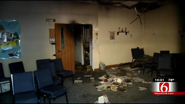 Deputies: Same Person Responsible For Two Burglaries, Fire At Woodall Church