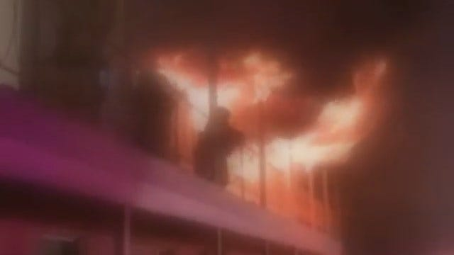 WEB EXTRA: Video Of Apartment Fire From Robert Ray