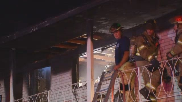 WEB EXTRA: Video From Scene Of Tulsa Apartment Fire