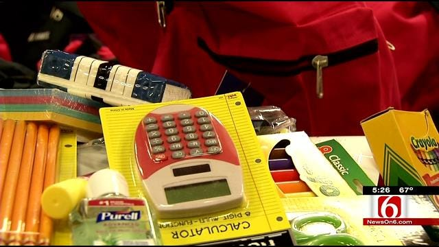 Backpacks Filled With School Supplies Donated To Tulsa Students