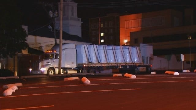 WEB EXTRA: Video Of Tangled Overhead Wires And Semi In Downtown Tulsa