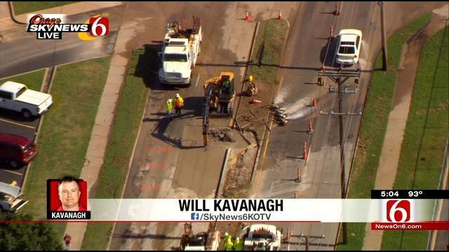 Second Water Main Closes Part Of North Harvard Avenue In Tulsa