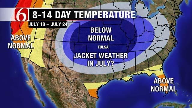 Hot This Weekend, Cooler Next Week Across Eastern Oklahoma