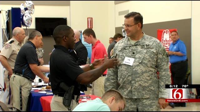 Companies Look To Hire Workers At Broken Arrow Military Job Fair