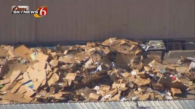 WEB EXTRA: Osage SkyNews 6 HD Flies Over Catoosa Recycling Plant Where A Body Was Found
