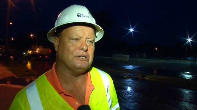 WEB EXTRA: City Of Tulsa Water Distribution Manager Rick Caruthers Talks About Water Line Break