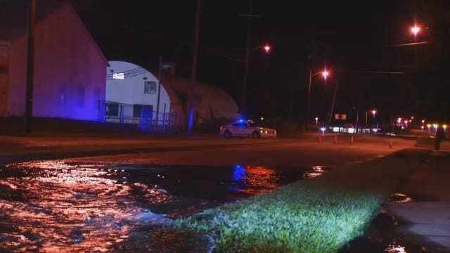 WEB EXTRA: Video From Scene Of Water Line Break On North Harvard
