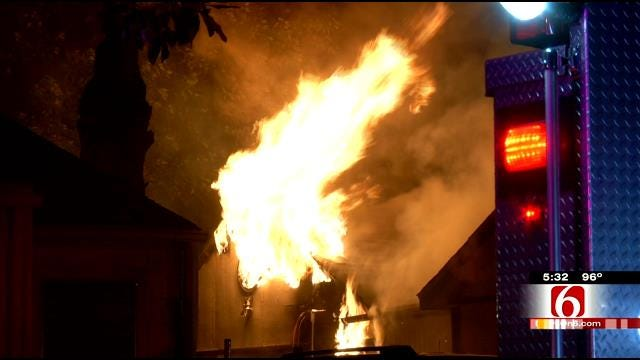Smoldering Charcoal Blamed For Tulsa House Fire