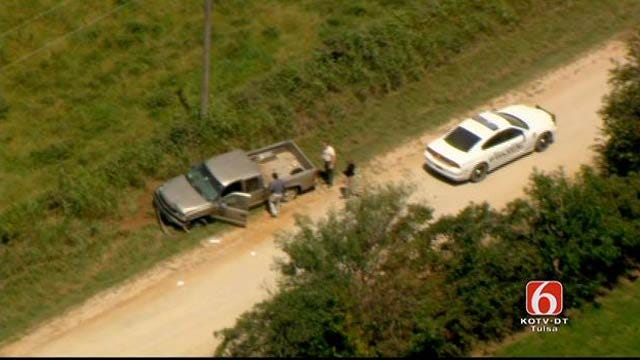 Osage SkyNews 6 HD Flies Over Scene Of Officer Involved Shooting In Okmulgee County