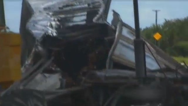 WEB EXTRA: Video From Scene Of Fatal Crash On Indian Nations Turnpike
