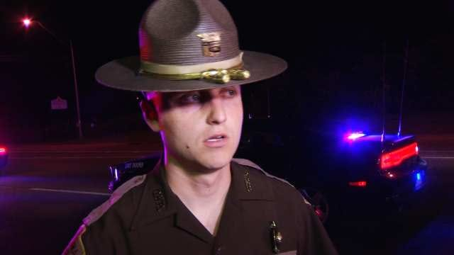 WEB EXTRA: OHP Trooper Aaron Kern Talks About Woman Struck On Highway
